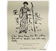 Kate Greenaway Collection 1905 0401 Model Mary Sketch on a Letter to Ruskin Poster