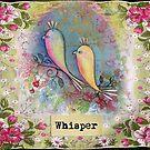 vintage love birds hankie by sue mochrie