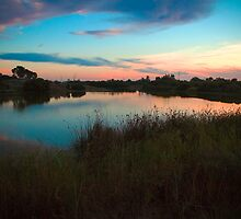 Sunset over Greenfields Wetlands, Mawson Lakes by Elana Bailey
