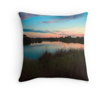 Sunset over Greenfields Wetlands, Mawson Lakes Throw Pillow
