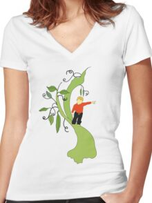 Jack And The Beanstalk Women's Fitted V-Neck T-Shirt