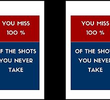 You miss 100 % of the shots you never take by IdeasForArtists