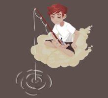Cloud Fishing One Piece - Short Sleeve