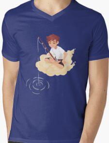 Cloud Fishing Mens V-Neck T-Shirt