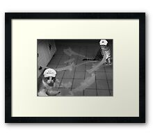 FELINE ABSTRACT ARTISTS..HUMOUR PICTURE..JUST FOR THE FUN OF IT LOL.. Framed Print