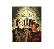 Jason vs Freddy Horror Gothic Art Print