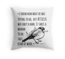 Only a Man Throw Pillow