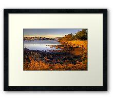 Kangaroo Bay in landscape and hdr, Tasmania Framed Print