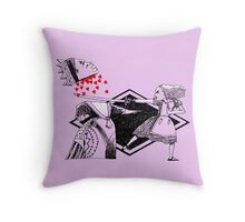 Alice vs. The Red Queen Throw Pillow