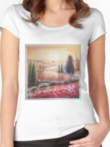 tuscany light Women's Fitted Scoop T-Shirt