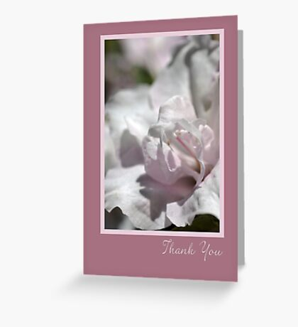 Thank You - Card . . .  Flowers Greeting Card