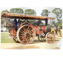 Traction Engine 1910 Poster