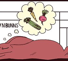 Sleeping Buns - Red by luvnbunns