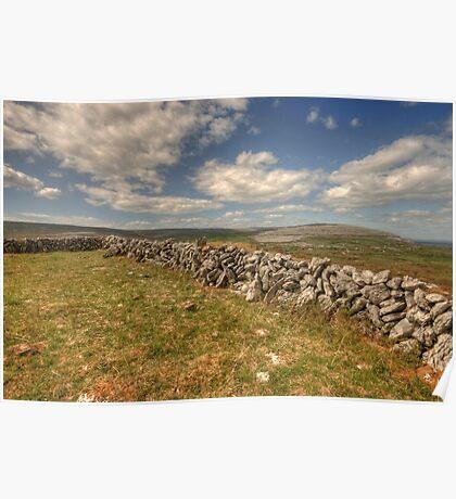 Burren Walls Poster
