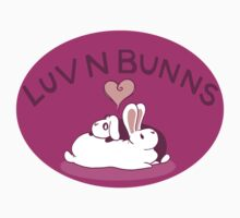 Hippity Hop Love- Purple Bunny Design Kids Tee