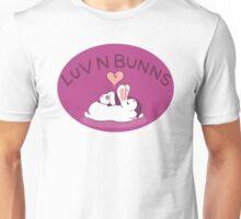 Hippity Hop Love- Purple Bunny Design Unisex T-Shirt