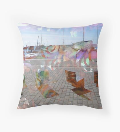 Chairs by the Sea Throw Pillow
