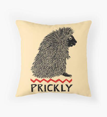 Prickly Porcupine Throw Pillow