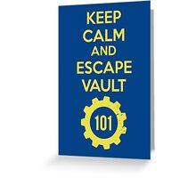 Keep Calm Vault 101 Greeting Card