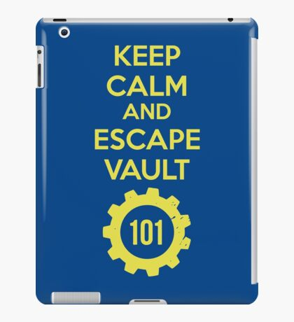 Keep Calm Vault 101 iPad Case/Skin