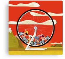 Road Cycle Racing on Hamster Power Canvas Print