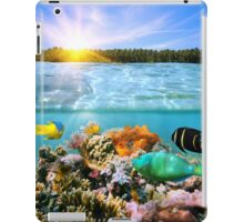 Sunset and colorful underwater marine life iPad Case/Skin