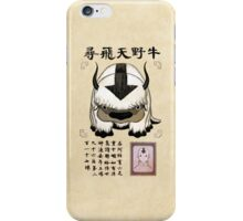 Avatar the Last Airbender - Lost Appa Wanted Poster iPhone Case/Skin