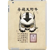 Avatar the Last Airbender - Lost Appa Wanted Poster iPad Case/Skin