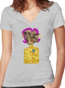 Madam Meat Women's Fitted V-Neck T-Shirt