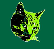 Electric Green Tabby Face Unisex T-Shirt