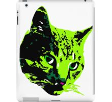 Electric Green Tabby Face iPad Case/Skin