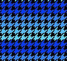 Blue houndstooth pattern hardcover journal by artisticattitud