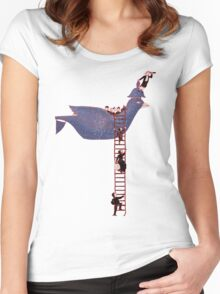 Bird Rescue Boat Women's Fitted Scoop T-Shirt