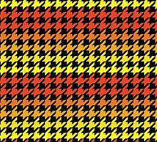 Red orange yellow houndstooth pattern hardcover journal by artisticattitud