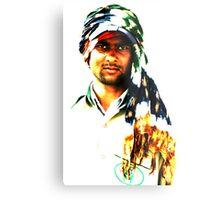Coloured scarf Metal Print