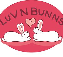 Hippity Hop - Red Bunny Design by luvnbunns