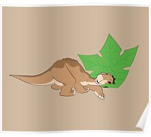 Littlefoot and his tree star! Poster