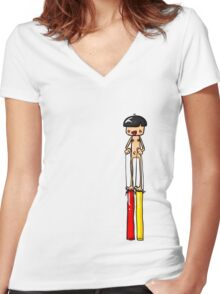 Ned is REALLY Tall Women's Fitted V-Neck T-Shirt
