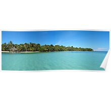 Tropical island panorama Poster