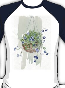 Electric blue hanging basket, T-Shirt