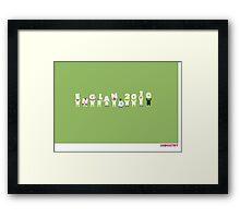 Foot-T poster 'Engerland!' Framed Print