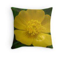 Wildflower Buttercup Throw Pillow