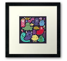Colorful Creatures Framed Print