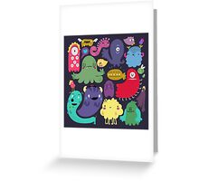 Colorful Creatures Greeting Card
