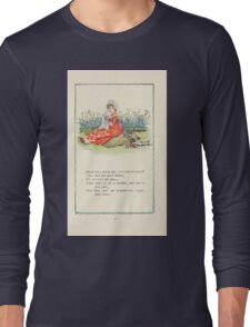 Mother Goose or the Old Nursery Rhymes by Kate Greenaway 1881 0035 Bonny Lass Pretty Lass Will Thou be Mine Long Sleeve T-Shirt