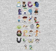 Animated characters abc Kids Tee