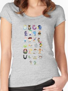 Animated characters abc Women's Fitted Scoop T-Shirt