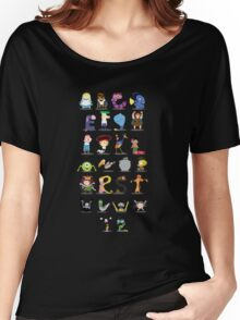 Animated characters abc Women's Relaxed Fit T-Shirt