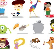 Animated characters abc Sticker