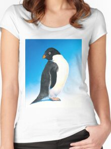 Adelie penguin Women's Fitted Scoop T-Shirt